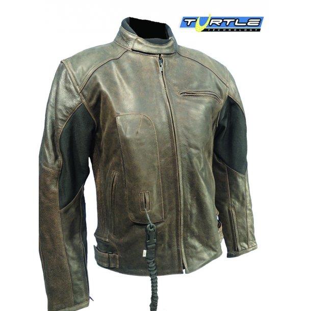 Leather jacket Roadster brun